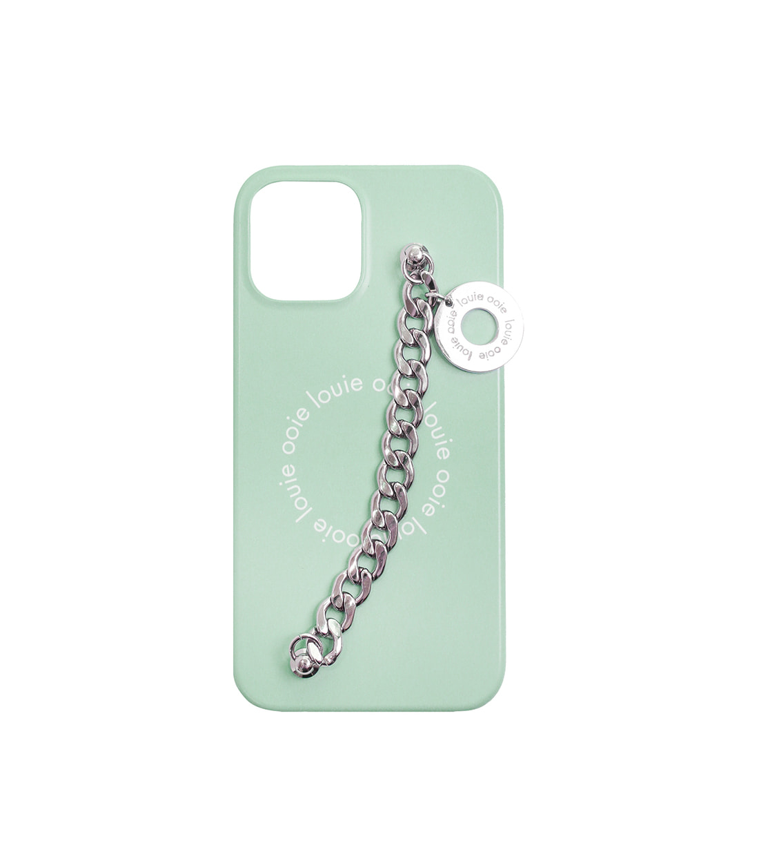 medal chain case - baby mint