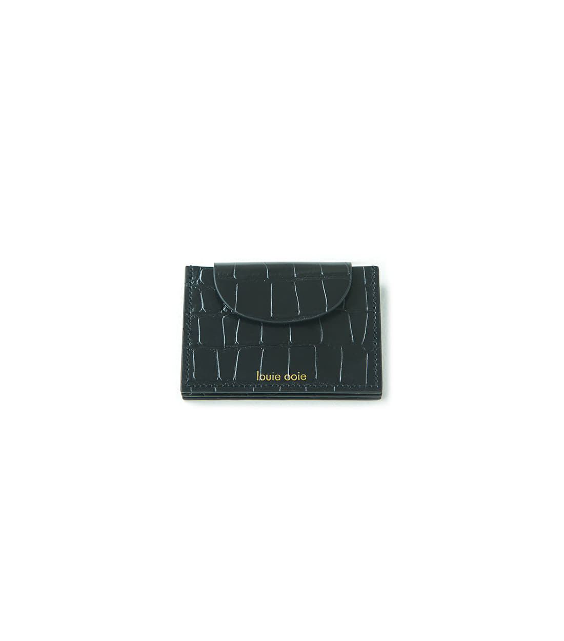 betty card wallet - black embo