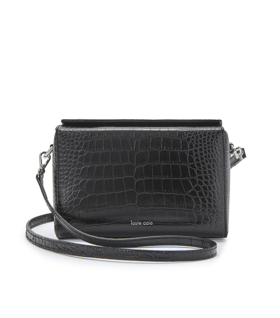 lena bag - black embo