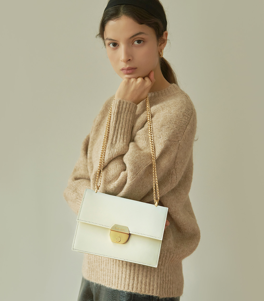 nancy bag - cream [refurb 50%]