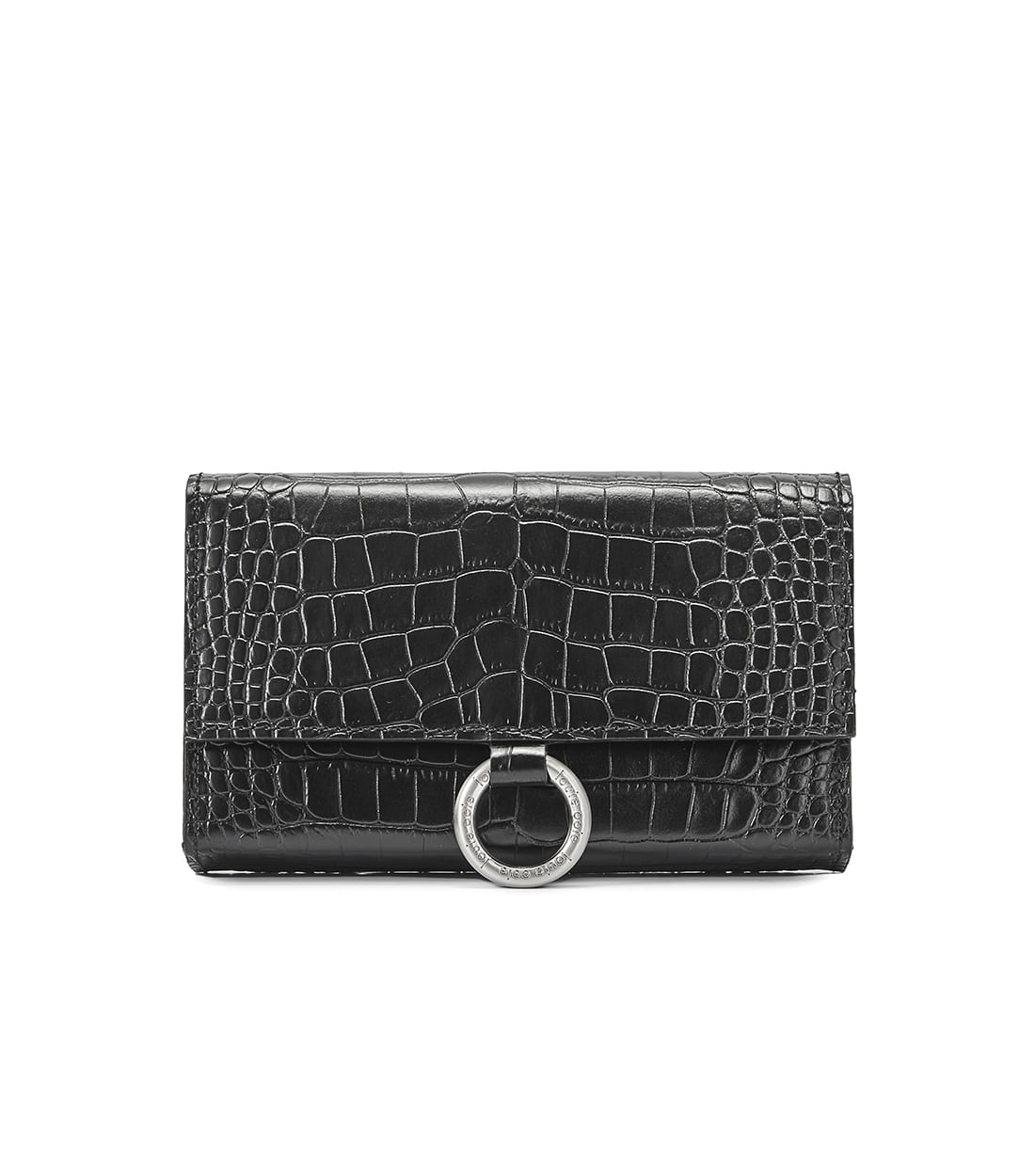 nina bag - black embo