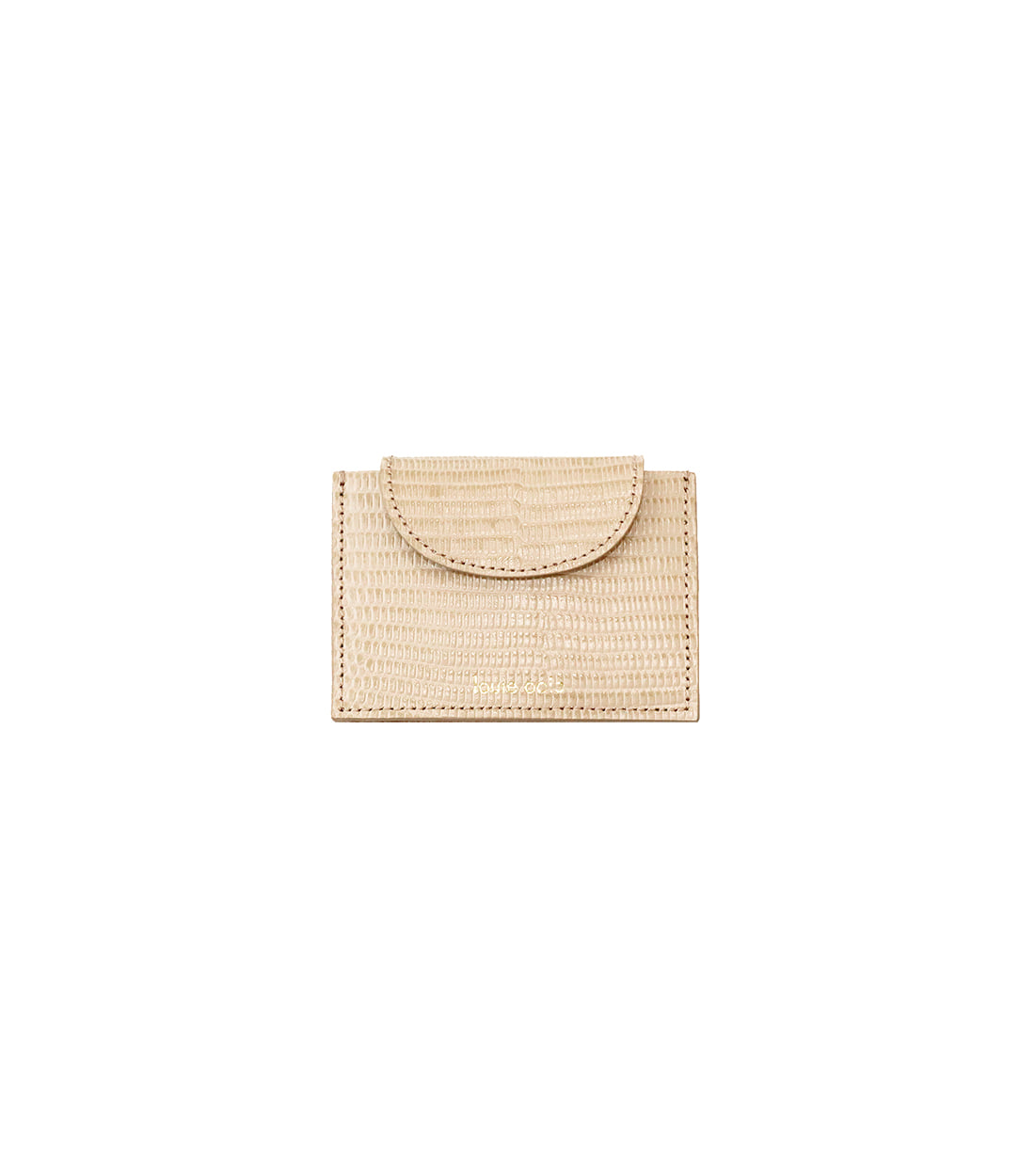 betty card wallet - beige embo