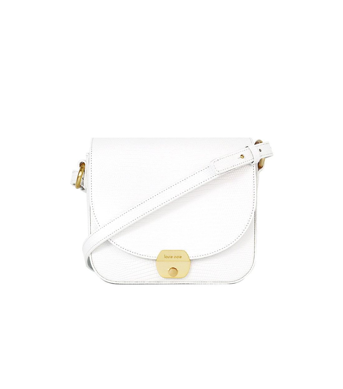 betty bag - white embo